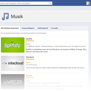 Facebook App Zentrum