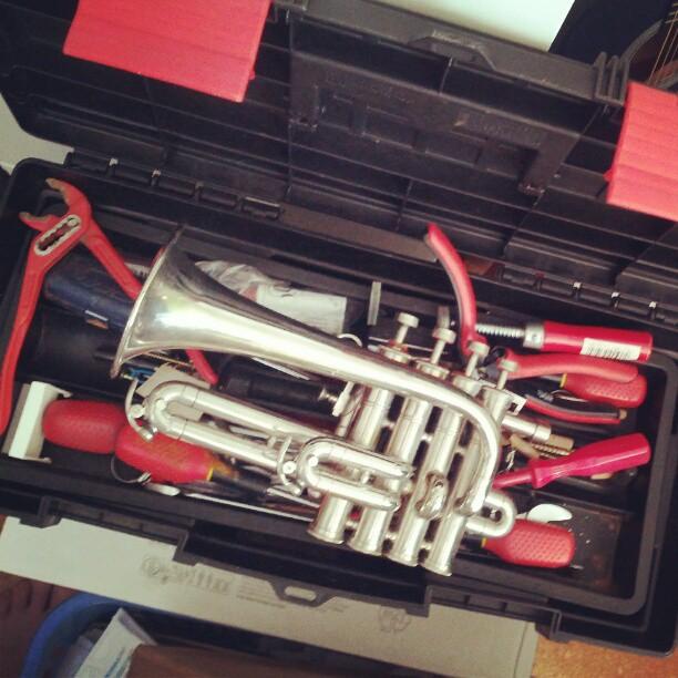 #Instrument als #Werkzeug #trompete